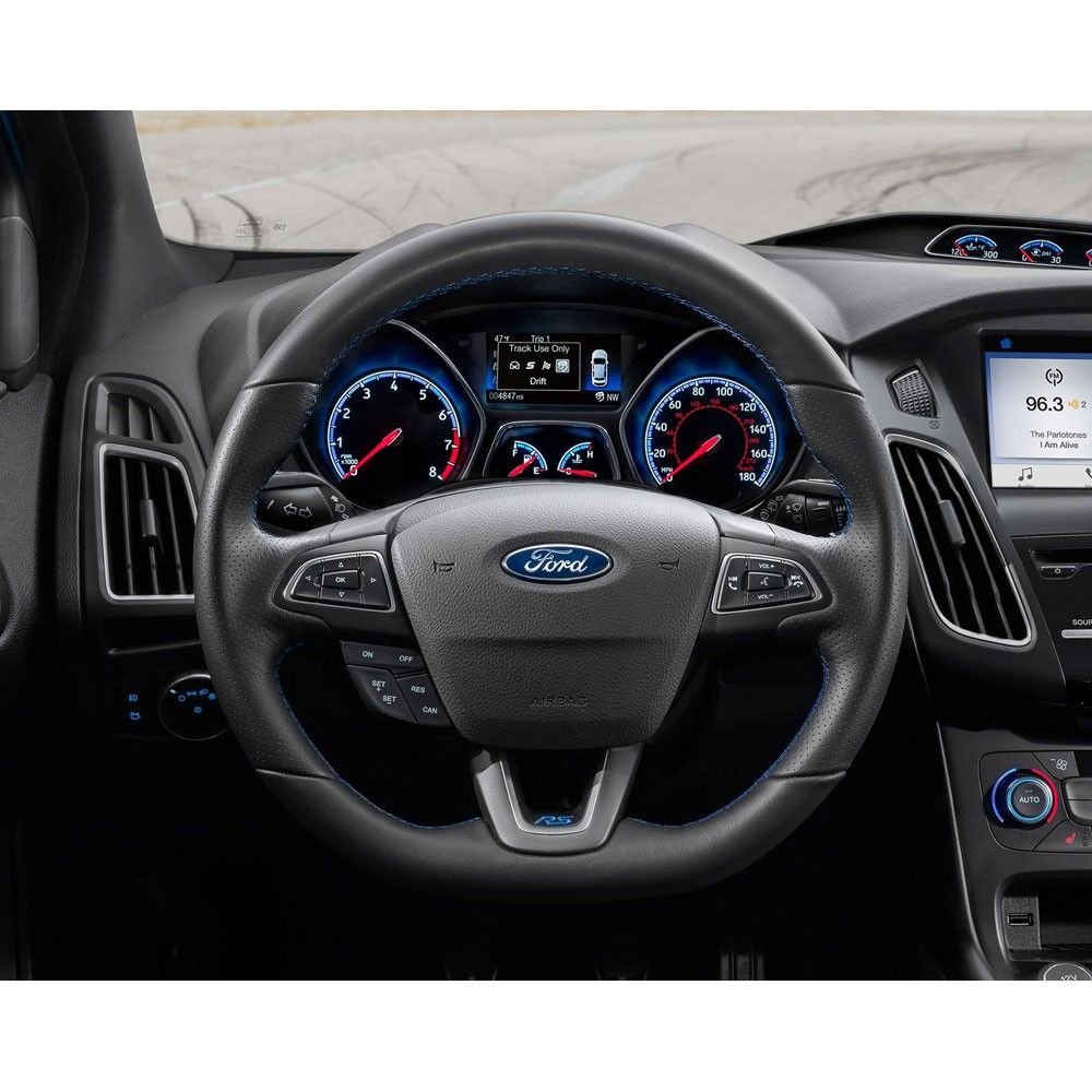 Ford Performance Steering Wheel Kit Black With Blue Stitching