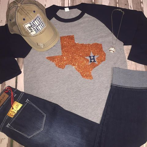 more photos c06fe 6aa73 Houston Astros Raglan | Astros!! | Houston astros shirts ...