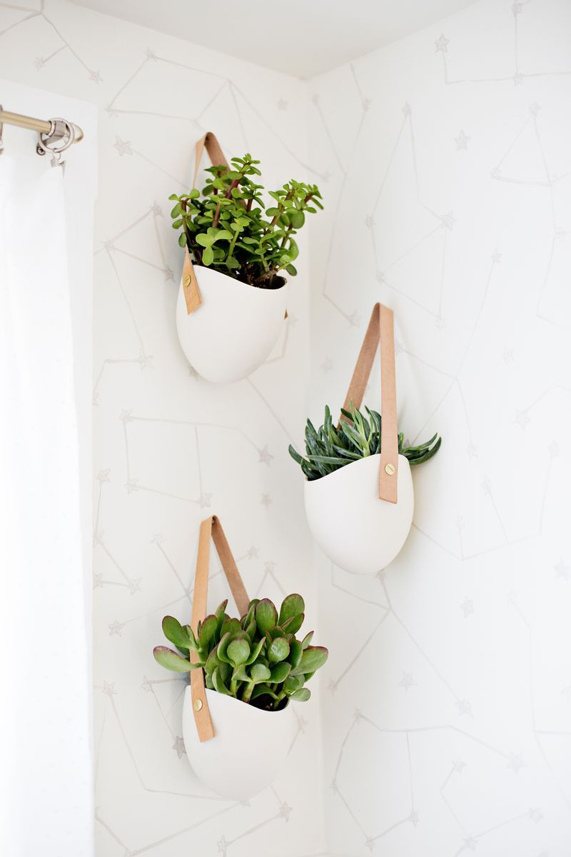 Yes These Hanging Planters Are Pretty Amazing Love This Entire Bathroom Redo Hanging Plants Bathroom Plants Green Bathroom