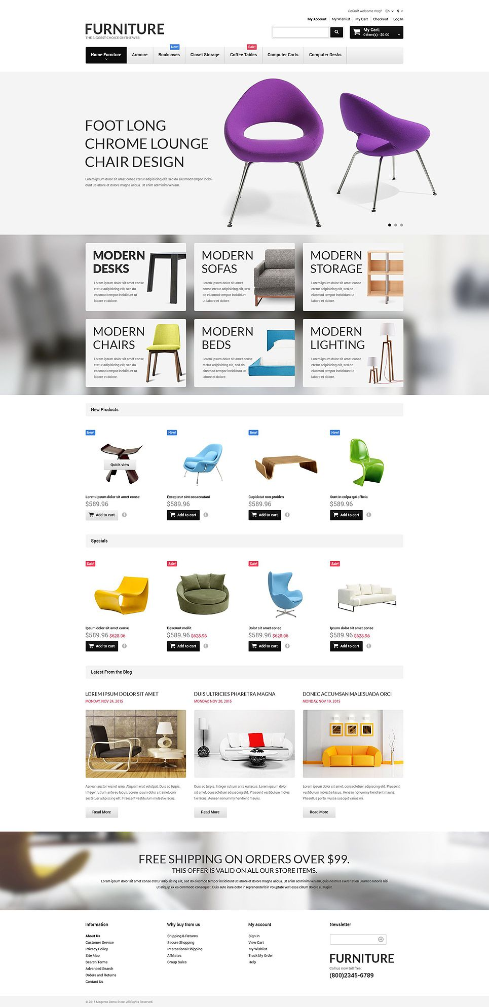 Furniture Responsive Magento Theme Ecommerce Web Design Magento Themes Ecommerce Design