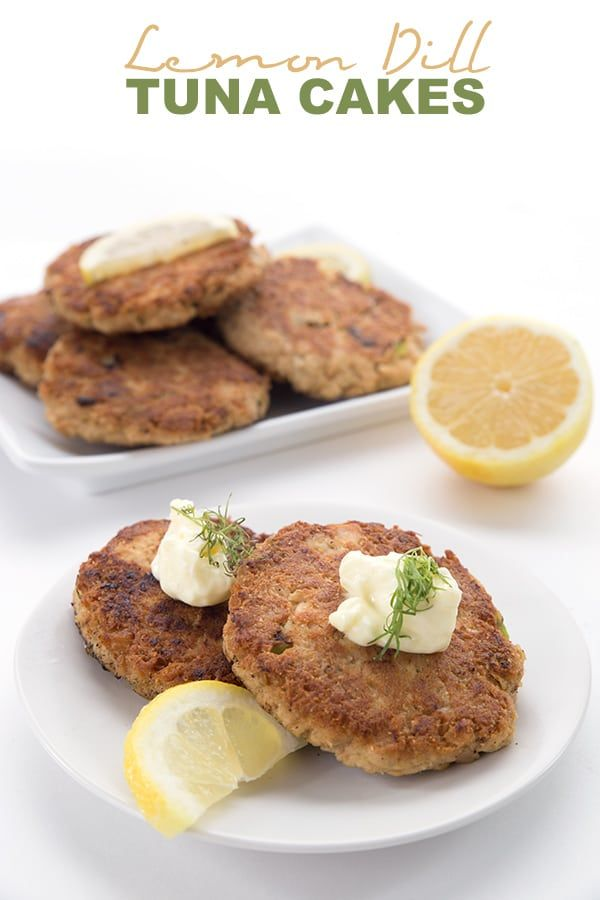 Lemon Dill Tuna Burgers Delicious Low Carb Tuna Patties