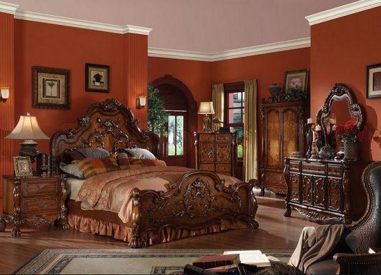 Lovely Light Brown Gothic Bedroom Furniture Sets