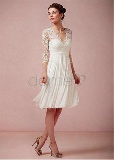 Brautkleid standesamt creme