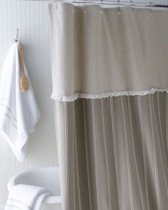 French Laundry Home French Stripe Shower Curtain With Images