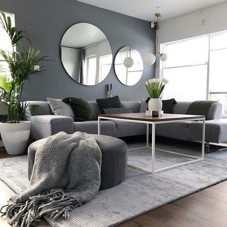 Home Design Ideas Classy: 113 Smart Modern Living Room Ideas With Grey Coloring 92
