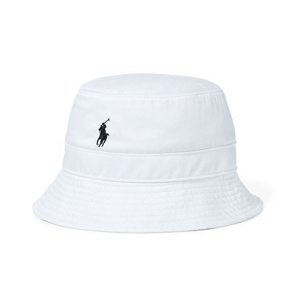 5240ce52992 Polo Ralph Lauren Twill Bucket Hat ( 38) ❤ liked on Polyvore featuring  men s fashion