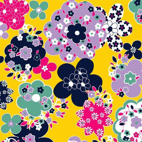 PRE-ORDER Floral Knit Fabric - Vintage Revival Cotton Jersey Blend Knit Fabric. $9.50, via Etsy.