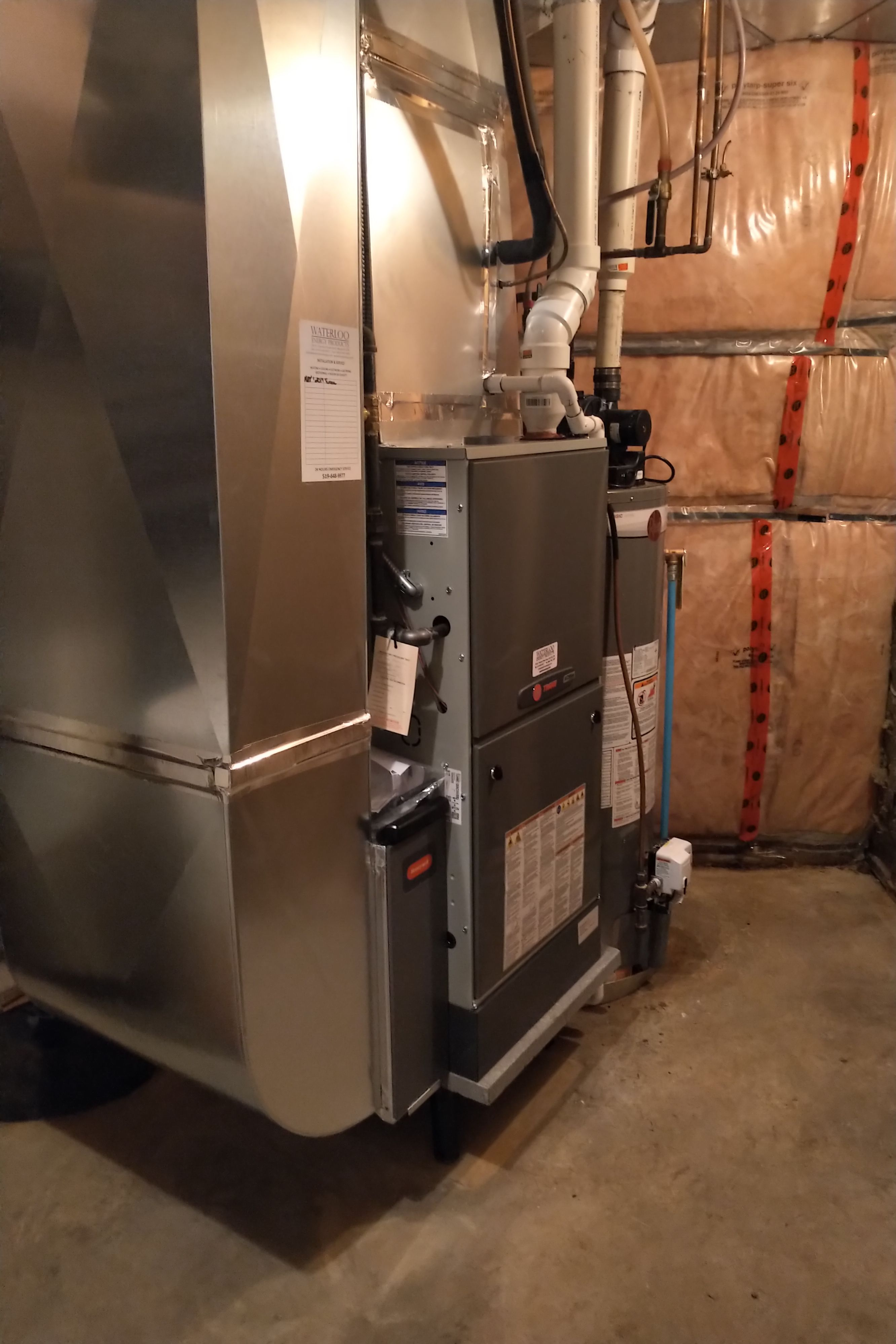 Check Out Lastest Install This Customer S Existing Furnace Has Had Water Damage And Was Not Functional Our Customer Requested That We Raise The New Furnace A