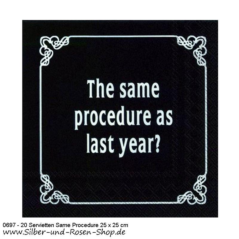 Papierservietten Gleiches Verfahren wie jedes Jahr 25 x 25 cm