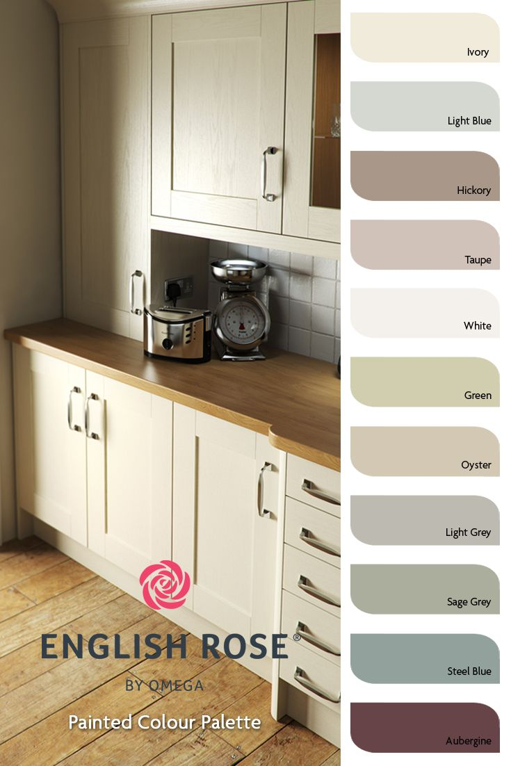 English Rose Painted Kitchens Colour Palette. | Painted Kitchen ...