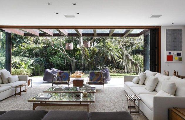 70 Moderne, Innovative Luxus Interieur Ideen Fürs Wohnzimmer   Tropisch  Pflanzen Modern Ausstattung Wohnzimmer Glastisch