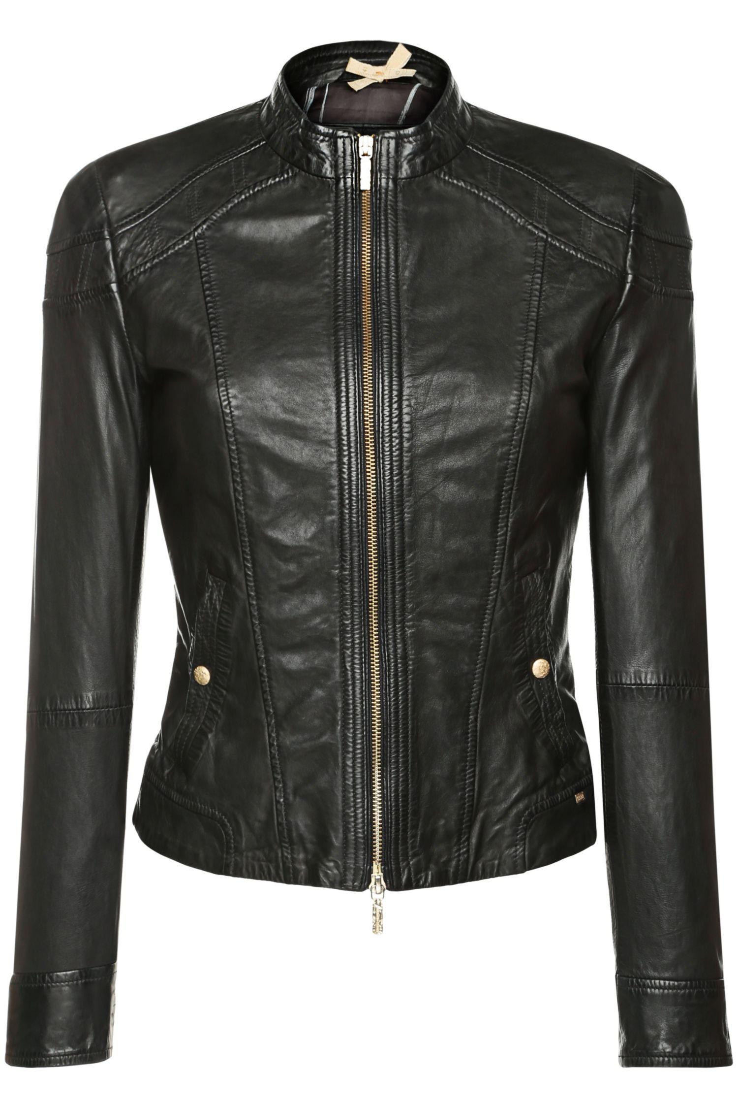 8759b424ca HUGO BOSS ORANGE 'Janassila2' Leather Jacket | Clothes and ...