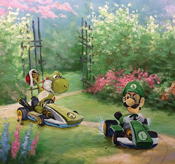 nintendocafe Art inspired by Mario Kart 8Created by Dave