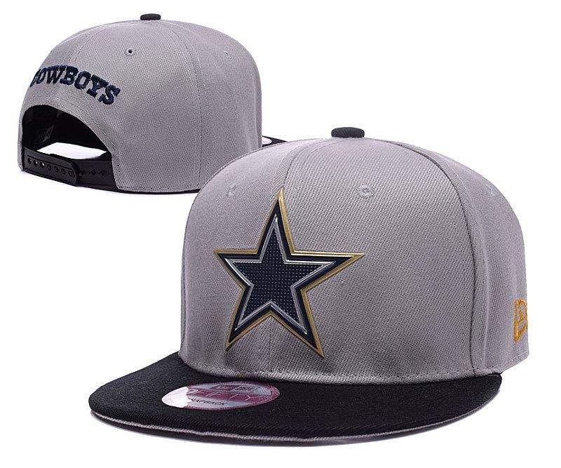 1924502af4c Mens Dallas Cowboys New Era 2016 NFL Liquid Chrome Team Logo 9fifty Sports  Fashion Snapback Cap - Grey   Black