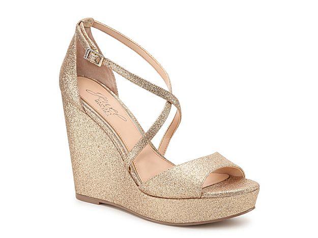 Women Averie Wedge Sandal -Gold Metallic Best Bridal Shoes 39339acbe56a