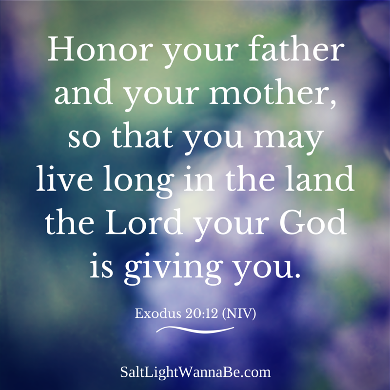 honor your father and your mother By samantha mckenzie honour thy father and thy mother: that thy days may be long upon the land which the lord thy god giveth thee.