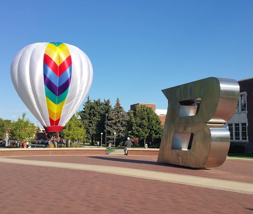 Tomorrow the sky will be full of hot air - balloons that is! The 25th Annual @spiritofboise Classic lifts off at 7:15am at #AnnMorrisonPark and we can't wait for the show. Sometimes the pilots come in for a landing at Boise State and we encourage you to greet them with your best University pride!  When you see them share photos or videos of the balloons with the hashtags #BoiseState and #SpiritOfBoise