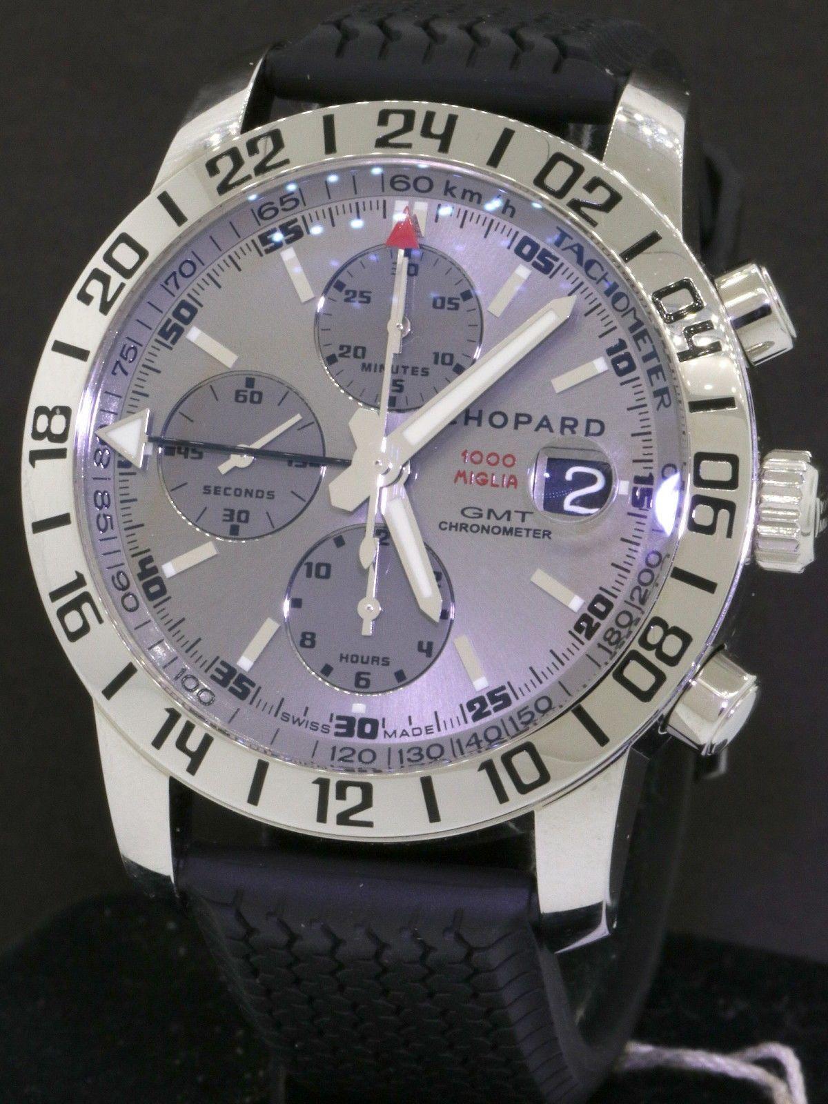 8237980936eeb Chopard Mille Miglia 1000 GMT 8992 SS automatic chronograph men's watch w/  B & P