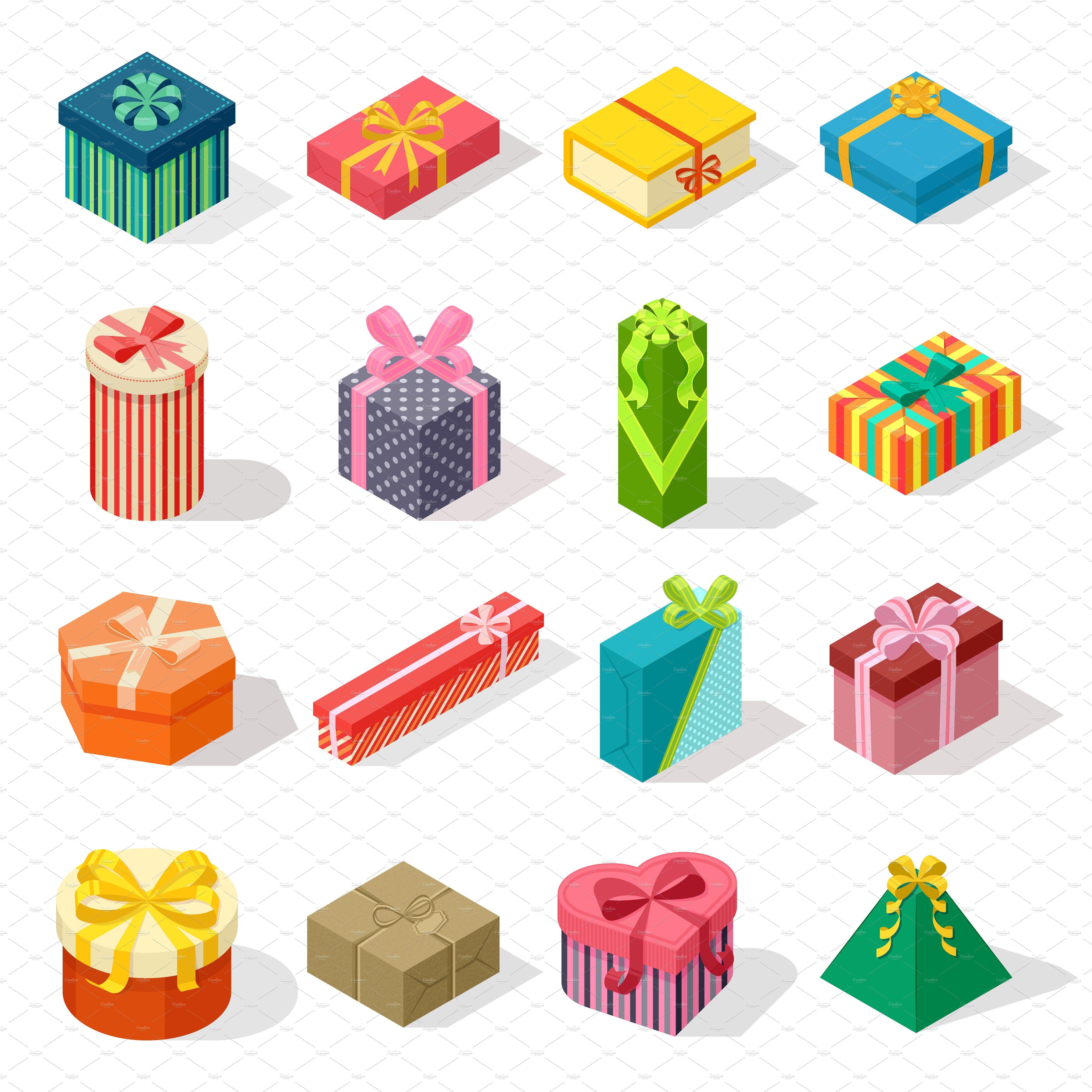 Isometric Gift Box Vector Gift Drawing Gift Box Design Cartoon Gift