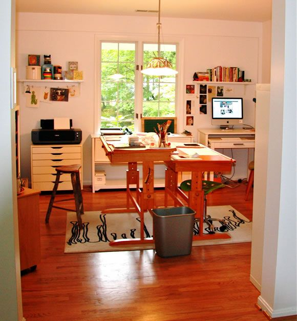 Art Studio Space And Light This Would Work Small Desk Shallow