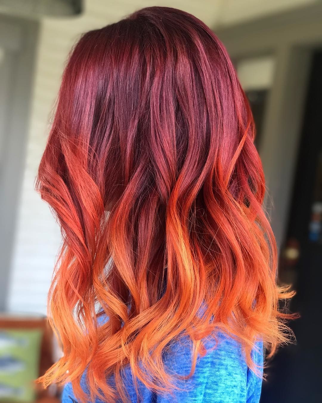 Hair Color Trends For 2021 Red Ombre Hairstyles Pretty Designs In 2020 Orange Ombre Hair Red Ombre Hair Hair Color Red Ombre