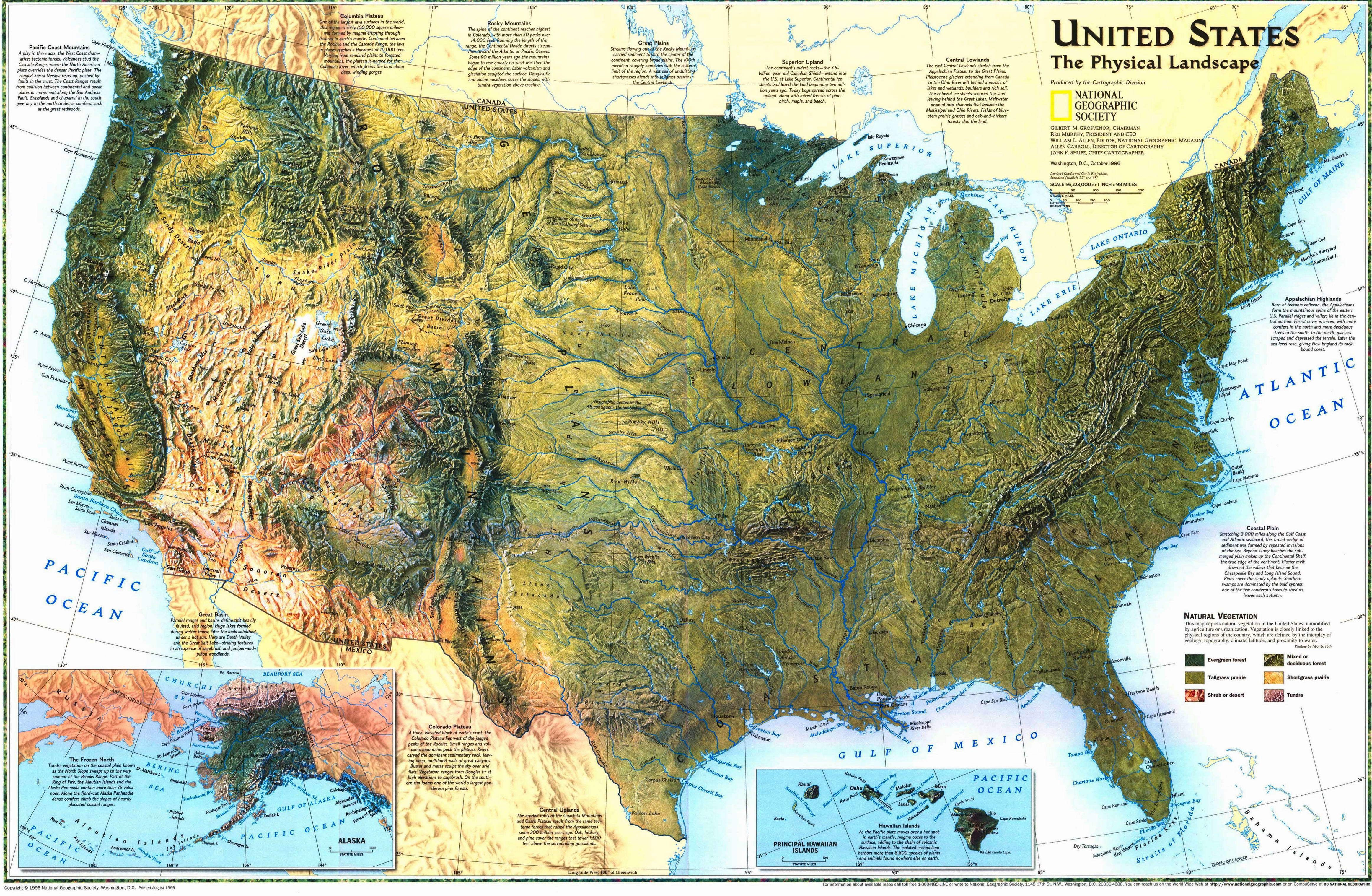 United States The Physical Landscape