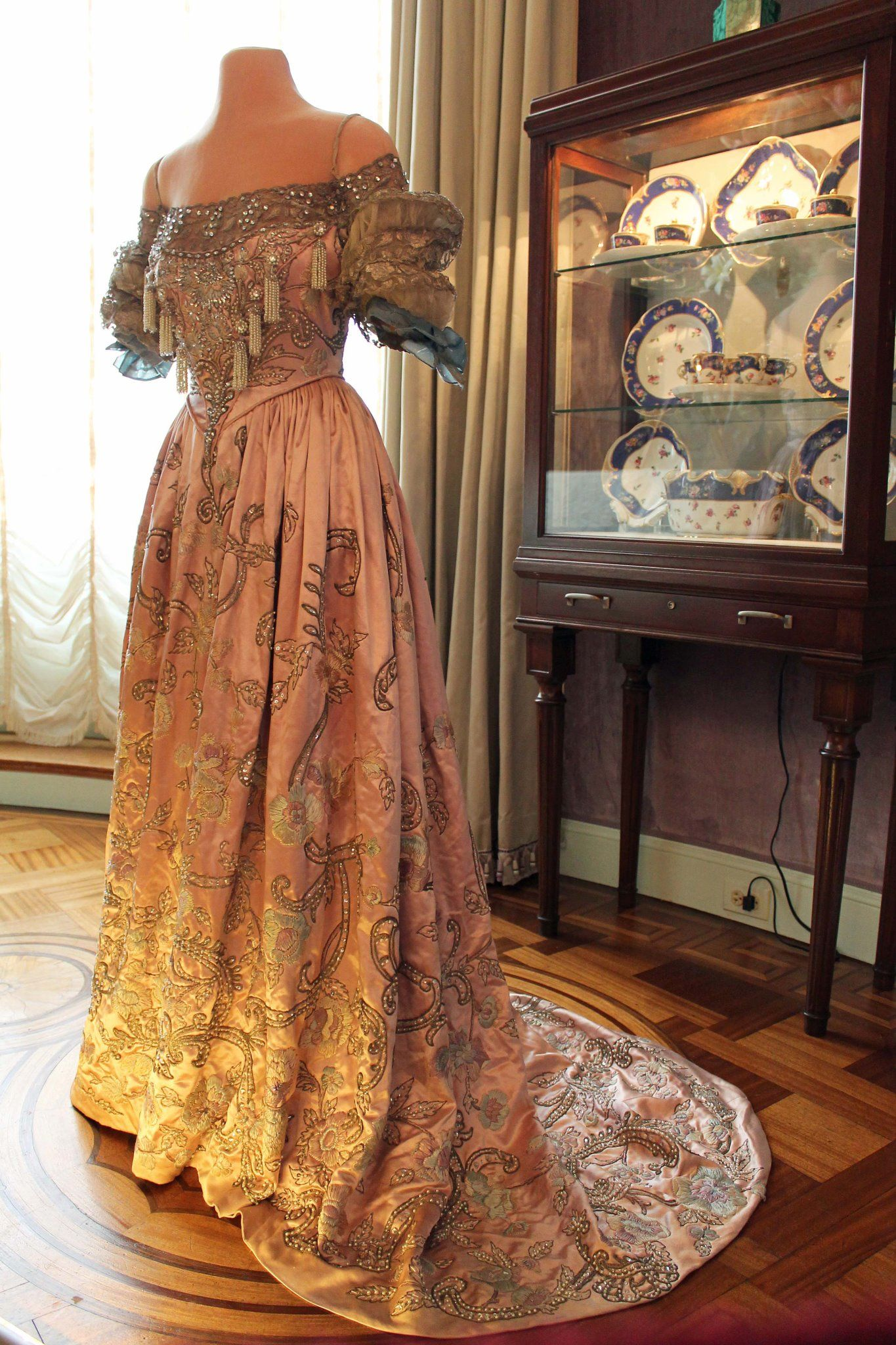 House of Redfern dress, typical of those worn to the coronation of ...
