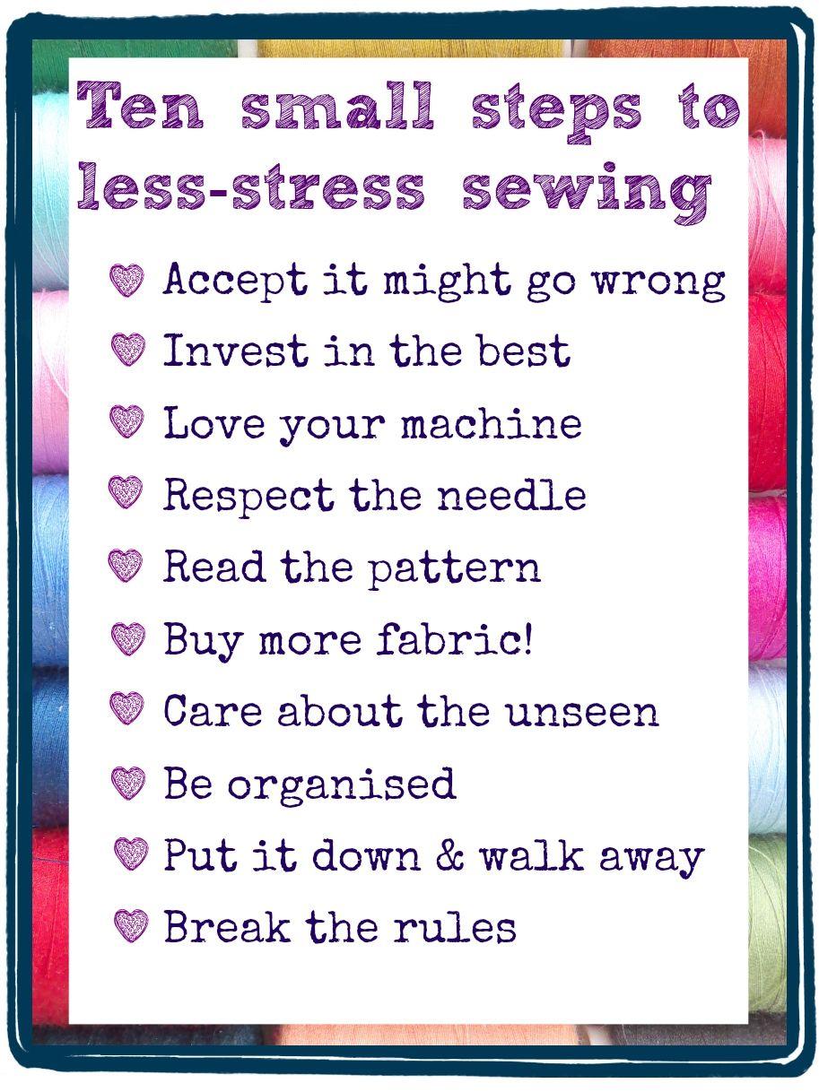 Less Stress Sewing Sewing, Stress, Sewing hacks