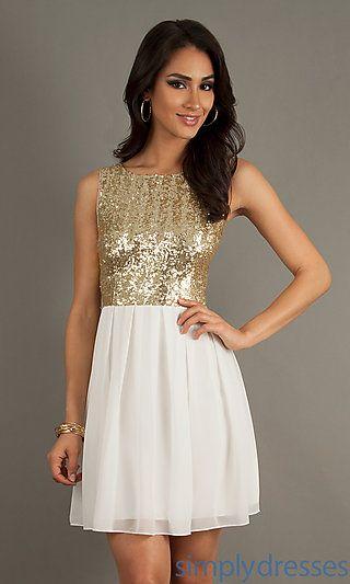 9f2ed60ec9e Short Sleeveless Sequin Embellished Dress at SimplyDresses.com ...