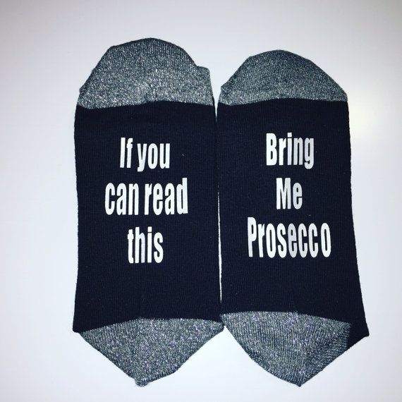 If You Can Read This Bring Mom Wine Personalized Socks With
