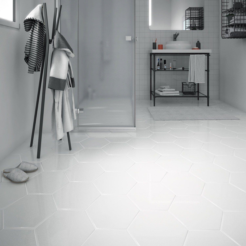 Carrelage Sol Et Mur Forte Effet Beton Blanc Hexo L 25 8 X L 29 Cm Carrelage Sol Beton Blanc Carrelage Hexagonal Blanc
