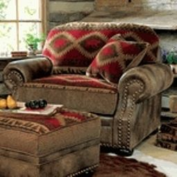 Chair And A Half With Ottoman Log Cabin Furniture Cabin