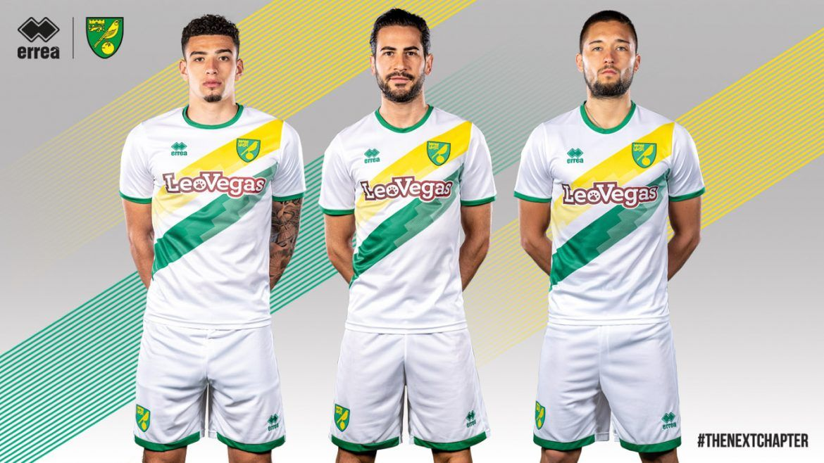Novas camisas do Norwich City 2018-2019 Erreà  2339fdb69504f