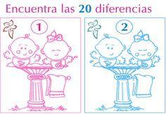 Brincadeira P/o Chá: Encontre Os 7 Erros! Juegos Para Baby Shower Faciles