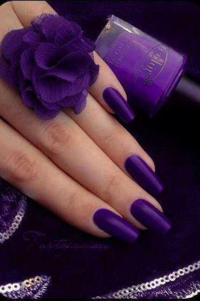 royal purple nails purplelicious