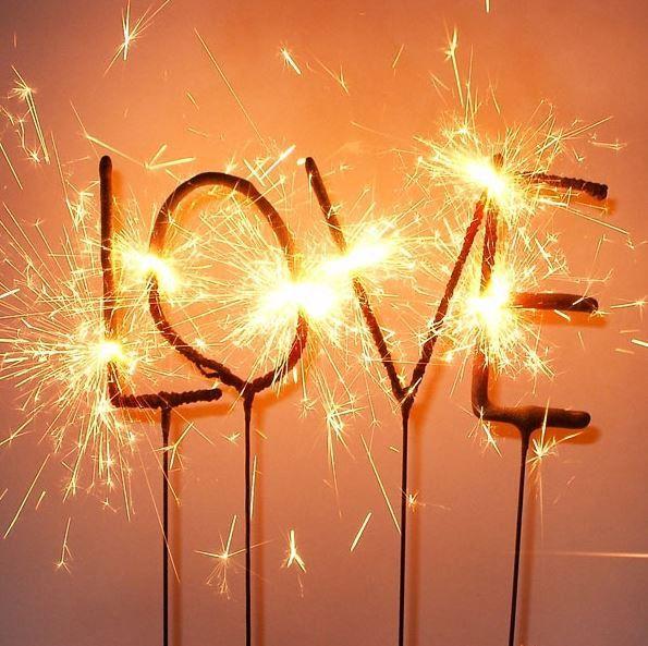 4er Wunderkerze Herz Stern Feuerwerk Silvester Hochzeit Geburtstag Valentinstag