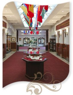 This was the Hall of Flags and Bible Collection at #PremierDesigns ...