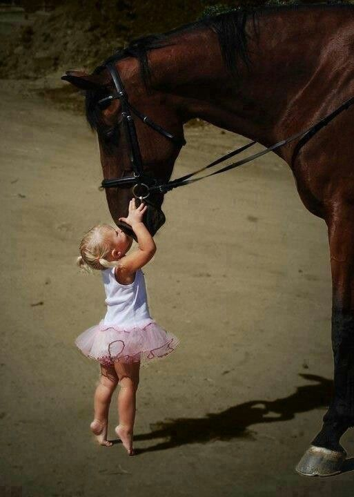 This was me as a little girl and I'm sure my daughter will be the same way. Animal lover for life ❤️