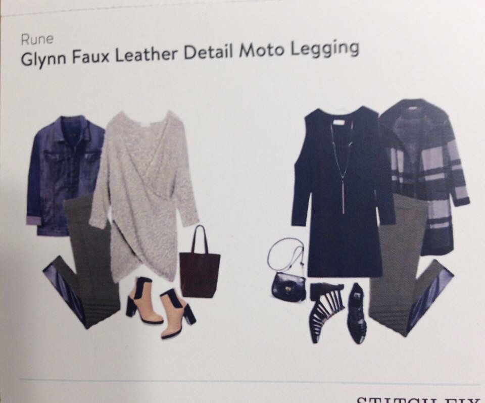 shop for luxury latest collection sale uk Rune Glynn Faux Leather Detail Moto Legging | FB Stitch Fix ...