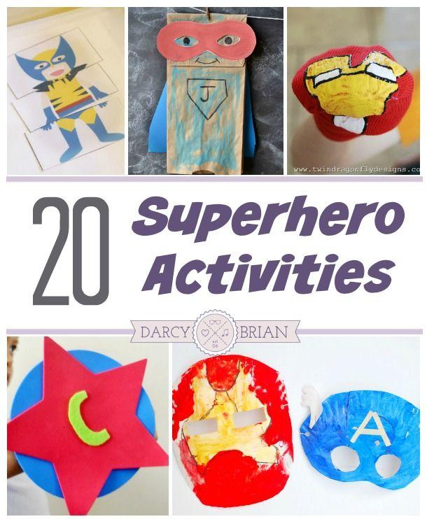 20 Superhero Activity Ideas To Save The Day Superhero Crafts Hero Crafts Superhero Preschool