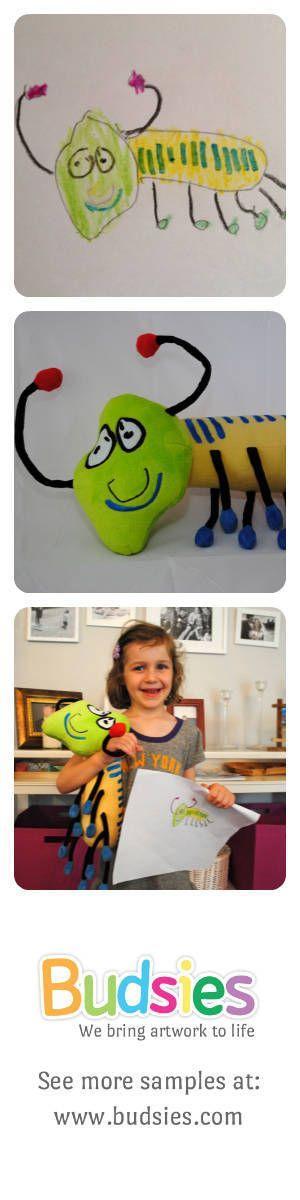 Budsies brings artwork to life by making custom stuffed animals from kids' artwork.