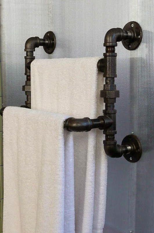 handtuchhalter selber bauen Tubos Cu \ PVC Pinterest - badezimmer renovieren selber machen