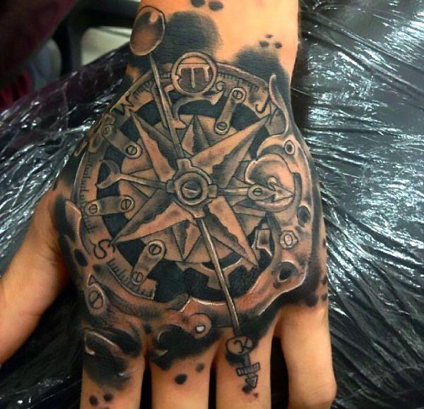 Steampunk Tattoo On Hand For Men Tattoo Idea Steampunk Tattoo Steampunk Tattoo Design Tattoo Designs Men