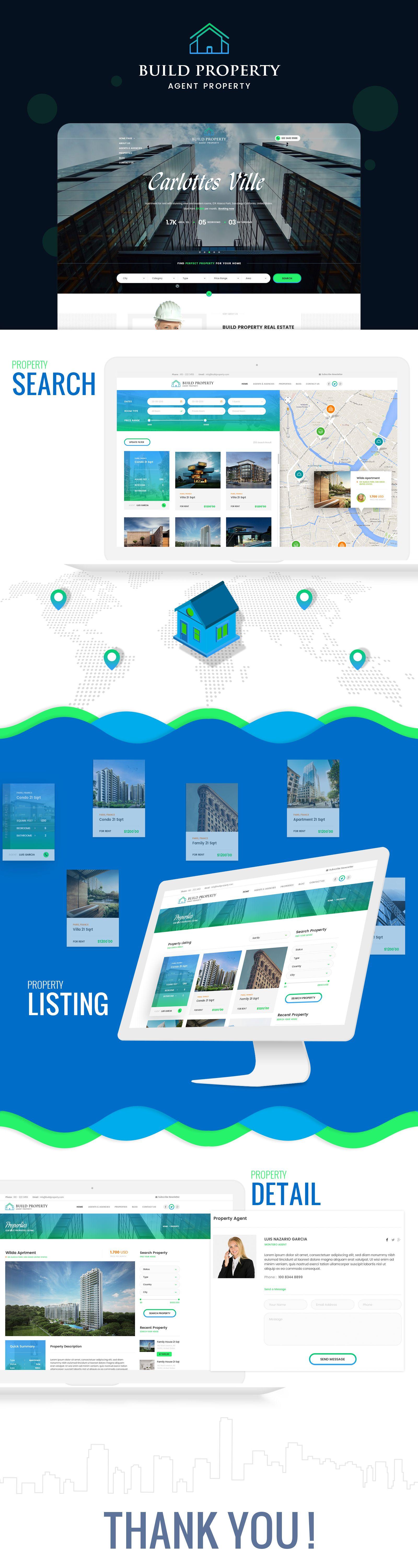 Build Property Portfolio Website Design Development Company Web - Web development company website template