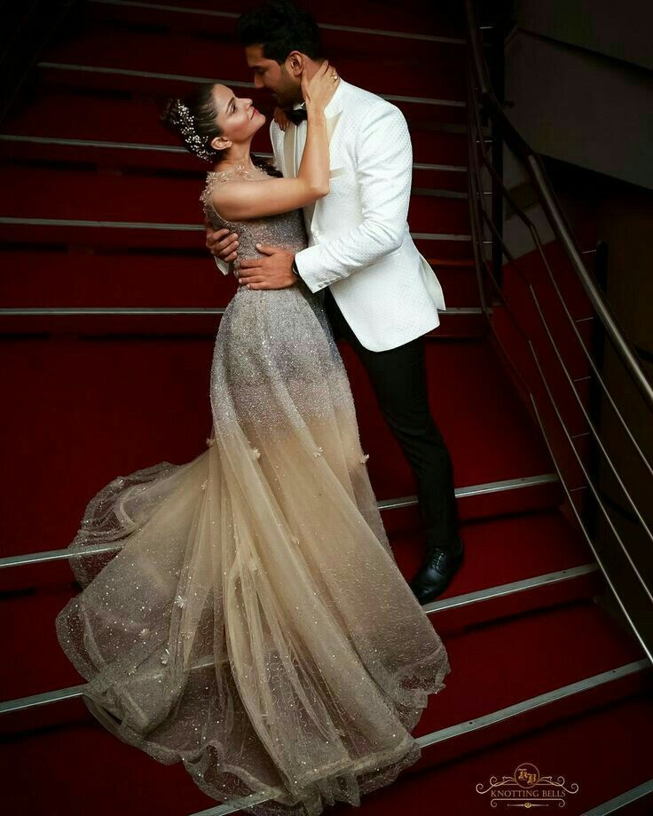 Rubina S Wedding Indian Celebs Reception Gown