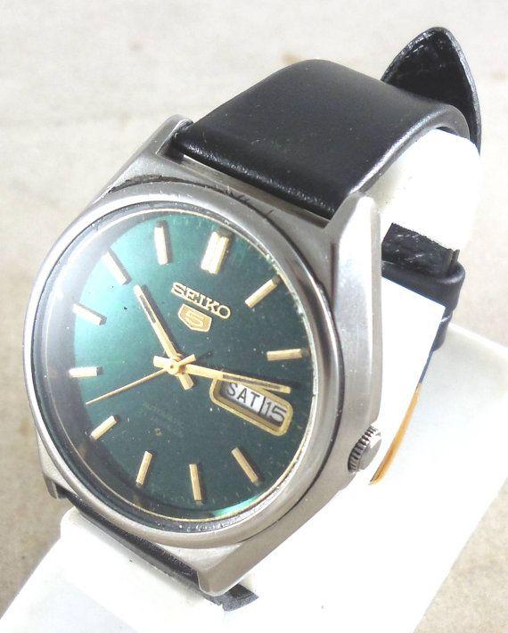 Original Vintage Seiko 5 Automatic 21j Japan 6319 8120 Running Watch D D 3 W2349 Free Gift Seiko 5 Automatic Seiko Seiko Watches