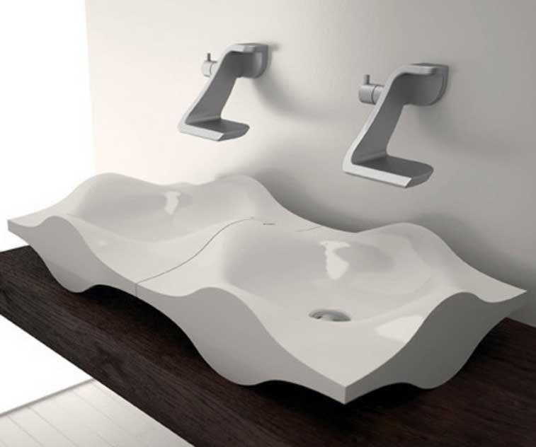 Moderne und kreativ design waschbecken mit meeres wellen form für