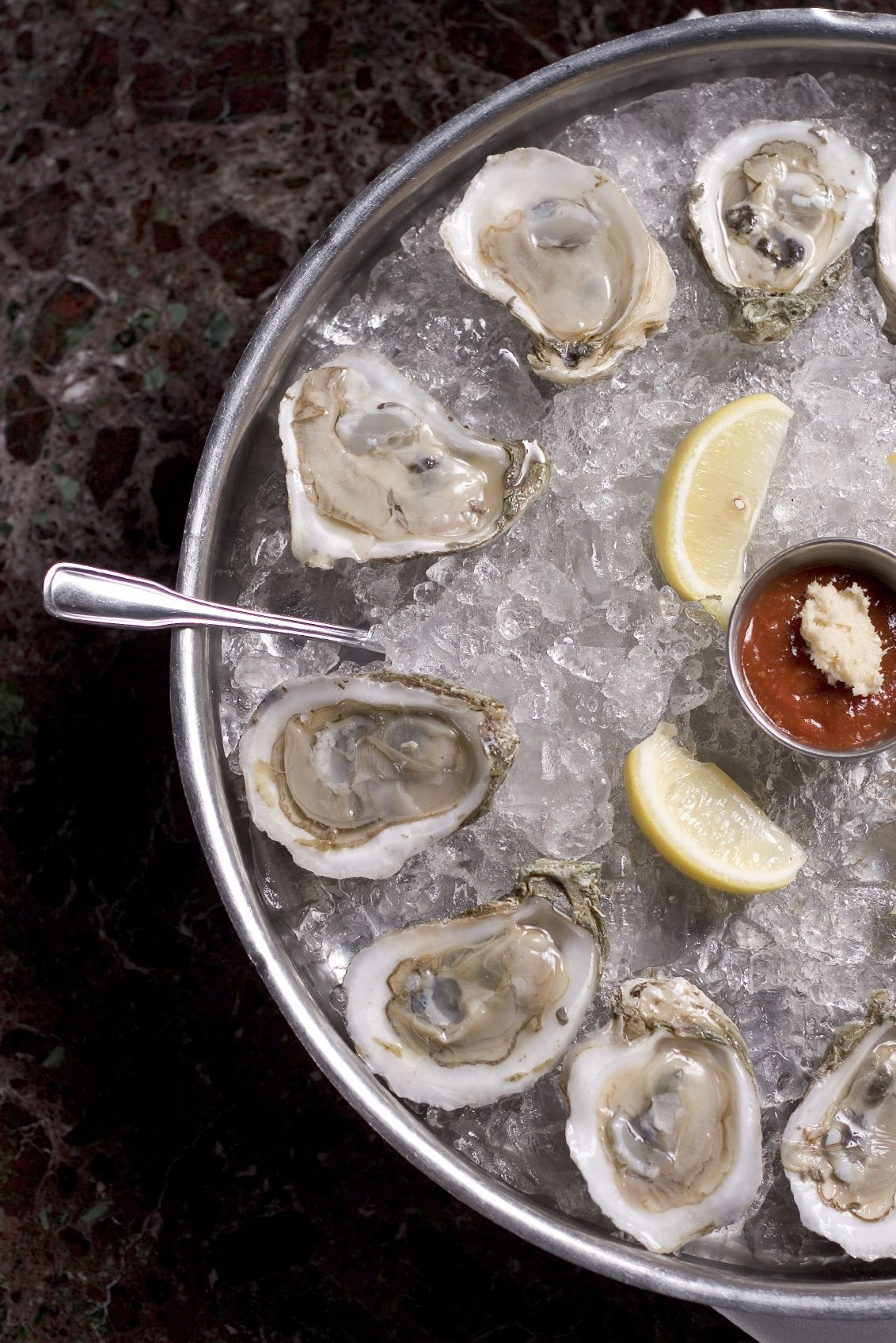 oysters on the half shell spotos oyster bar food