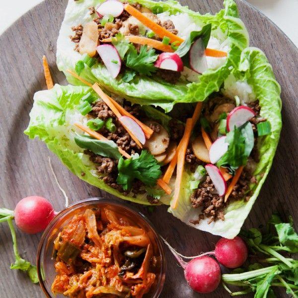 Easy Peasy Lettuce Wraps - Korean Style!