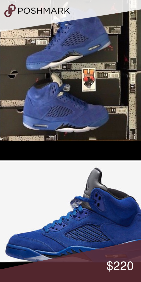 37baedc63d4 ... denmark 17 nike air jordan retro 5 v blue suede game royal i only ship  items